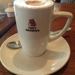 Large Latte at Foxy Brown's.