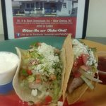 Mahi Mahi tacos....shown here is 1 soft and 1 hard taco. Serving size is 3 tacos. Dinner or solo