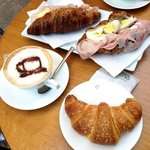 The croissants are flaky and delicious and make excellent sandwiches
