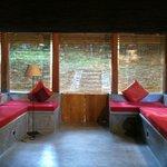 Enclosed porch in our suite