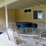 Each patio has a BBQ and private Softub.