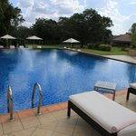 The Pool is small but stunning with an infinity end
