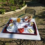 Breakfast table at Archontiko
