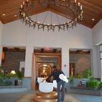 Lobby with crystal Chakra bowls
