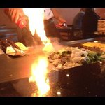 onion volcano at the hibachi grill.
