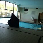 Indoor/Outdoor pool (don't know what that big covered up thing is)