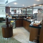 Buffet at executive lounge.