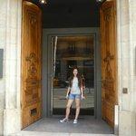Front entrance, biggest front door ever