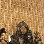 Many of the walls are adorned with the buddha's.