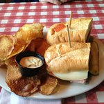 Italian sub with DELICIOUS chips!