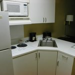 Suite has appliances for personal living!