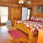 Master bedroom with king-bed, large cabin