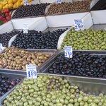 olives at the vegetable market