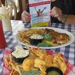 Fabulous seafood, Kaler's Restaurant, Boothbay Harbor, ME