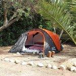 Dedicated camping area