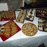 A selection of the delicious savouries for the evening buffet of the wedding