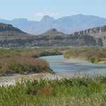 The Rio Grande and the Chisos Mountains.