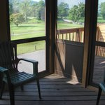 Screened in porch leading to outside deck