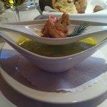 Sopa do dia no restaurante do hotel