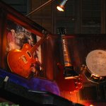 Slash's guitar and Steven Adler's drum