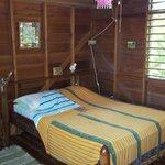bedroom area of cabana