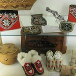 North American beadwork items collected on one of Cooks voyages.