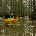 Cory and Connie guiding Gravenburg Trail paddle
