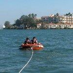 inner tubing in the Coronado Bay was super fun!