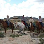 Four gentleman who have ridden together at ranches all over the US came to ride with us, and had