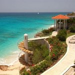 Stairs leading to semi-private beach.