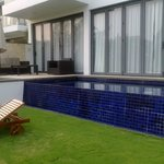 Decking and private pool