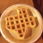 Texas waffles at the Hampton inn!!