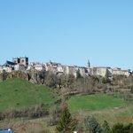 la vue depuis l'hôtel Deltour sur la ville haute de Saint Flour