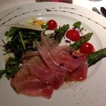 Asparagi Con Pancetta Tirolese - Asparagus, Ham & Rocket Salad