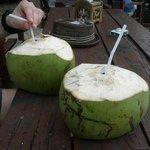 Sie holen einem sogar bei Bedarf die Kokosnüsse direkt vom Baum