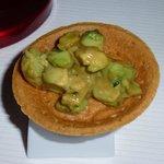 mustard and avocado tart