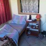 The 8-bed dorm room - my little corner