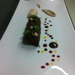 chocolate-plum cake with plum mousse - simply amazing:)