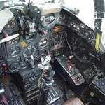 Inside of the cockpit