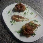 parma ham and fig bruschetta