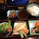 menu bento avec tempura