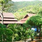 vue des bungalow autour de la piscine