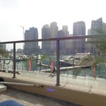 view of marina from sunloungers