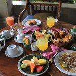 Breakfast served in the balcony