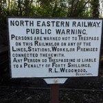 NER warning sign