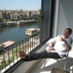 Terrasse au 8ème étage, côté Nil et Agouza