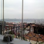 restraunt with nice view of city