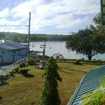View from front steps towards the dock