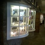 little display windows in hotel of the shops items