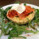 Smoked Trout and Asparagus Tartlet